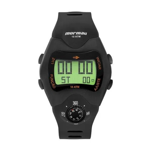 Relógio Digital Mormaii Bússola Preto MO1324AC/2P