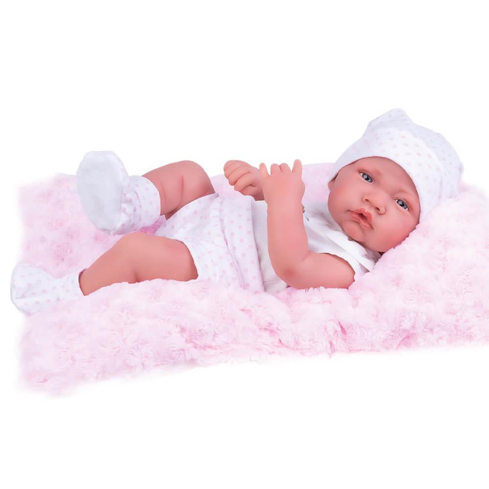 Boneca Bebê Reborn Anny Doll Baby Shorts e Blusa 2443