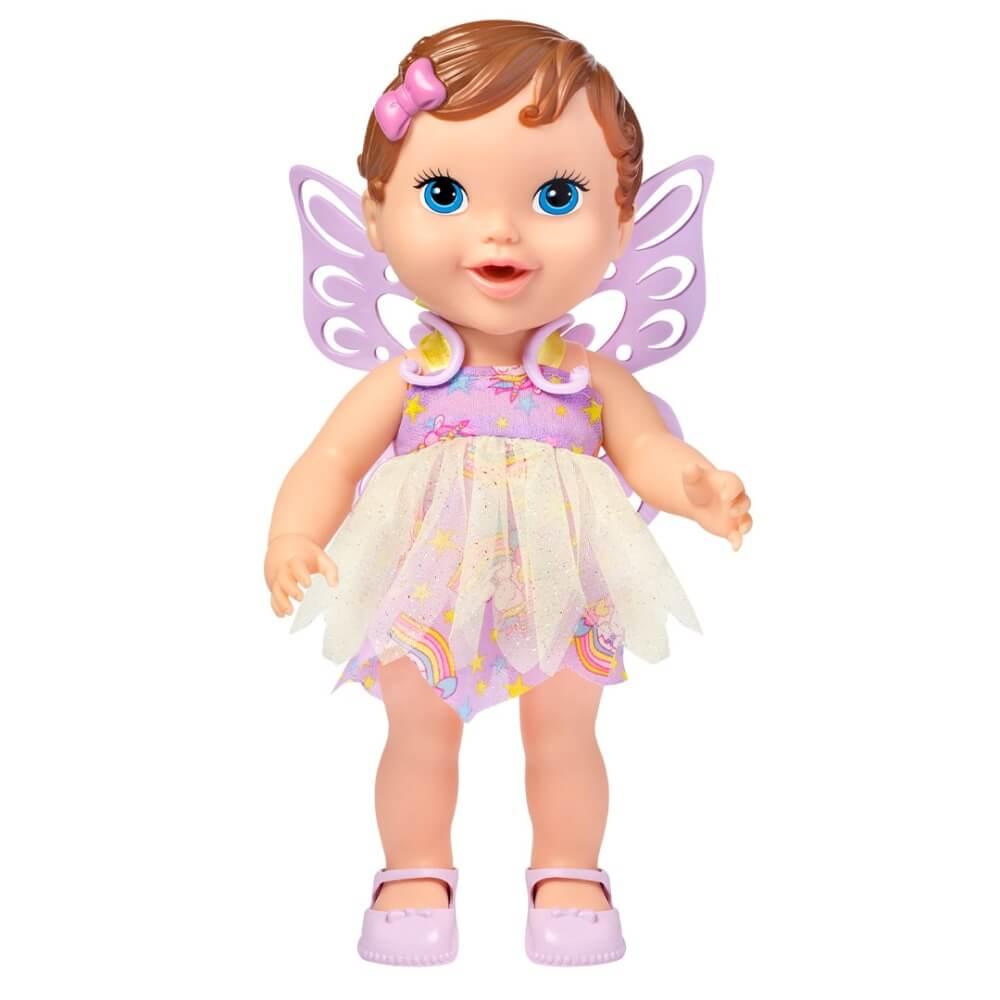 Boneca Babys Collection Fada Cabelo Marrom 302