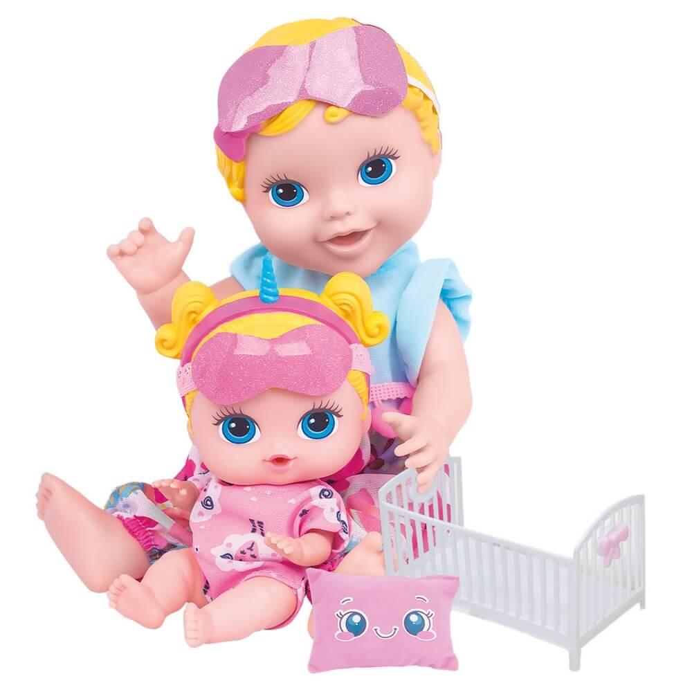 Boneca Mãe E Filha Babys Collection Festa Do Pijama 408