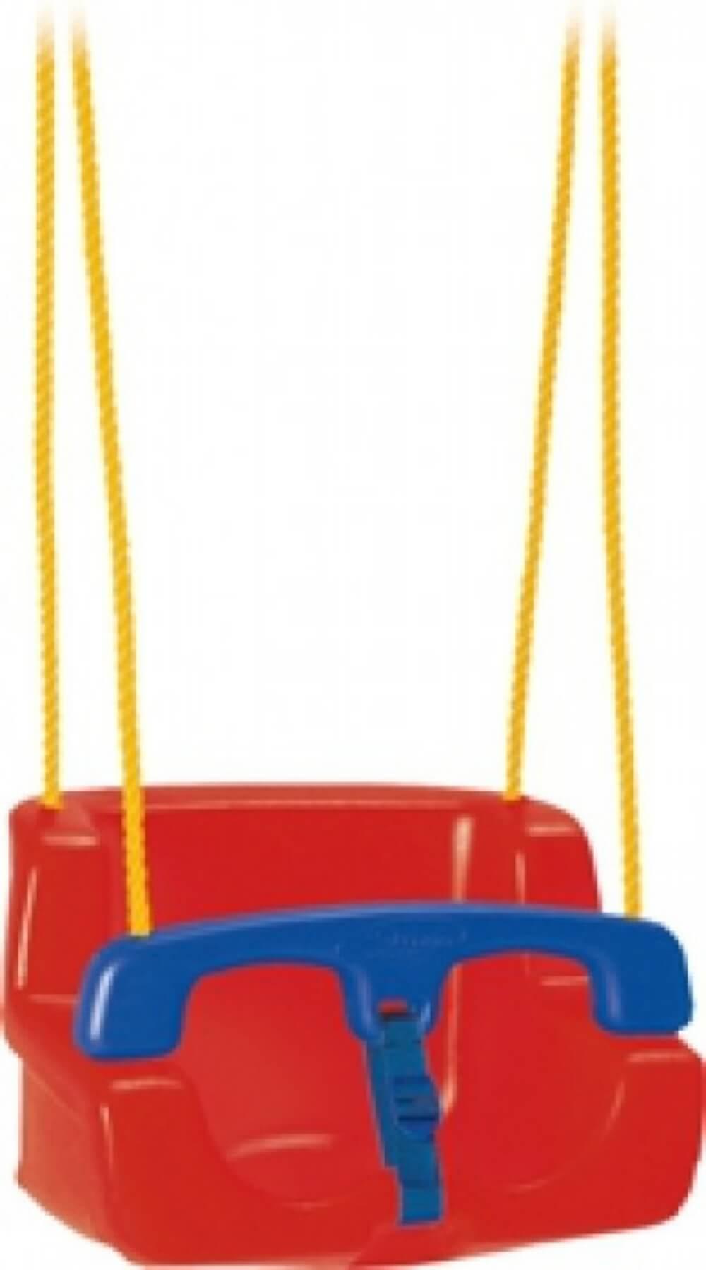 Balanço Infantil Amarelo Com Vermelho 02876