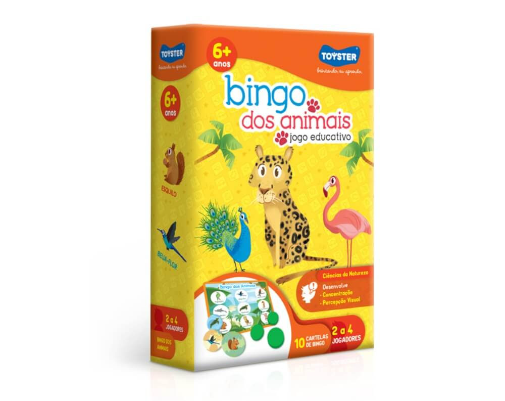 Jogo Bingo Dos Animais Toyster 2663