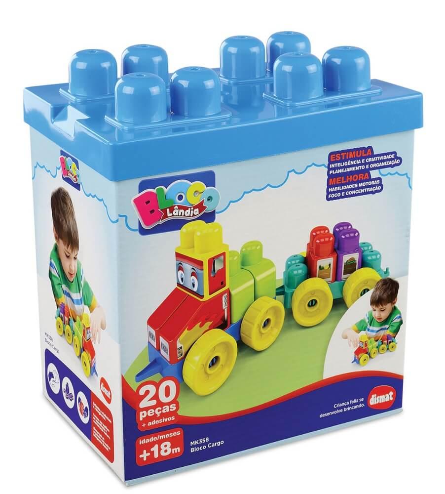 Brinquedo Bloco Cargo 20 Peças MK358