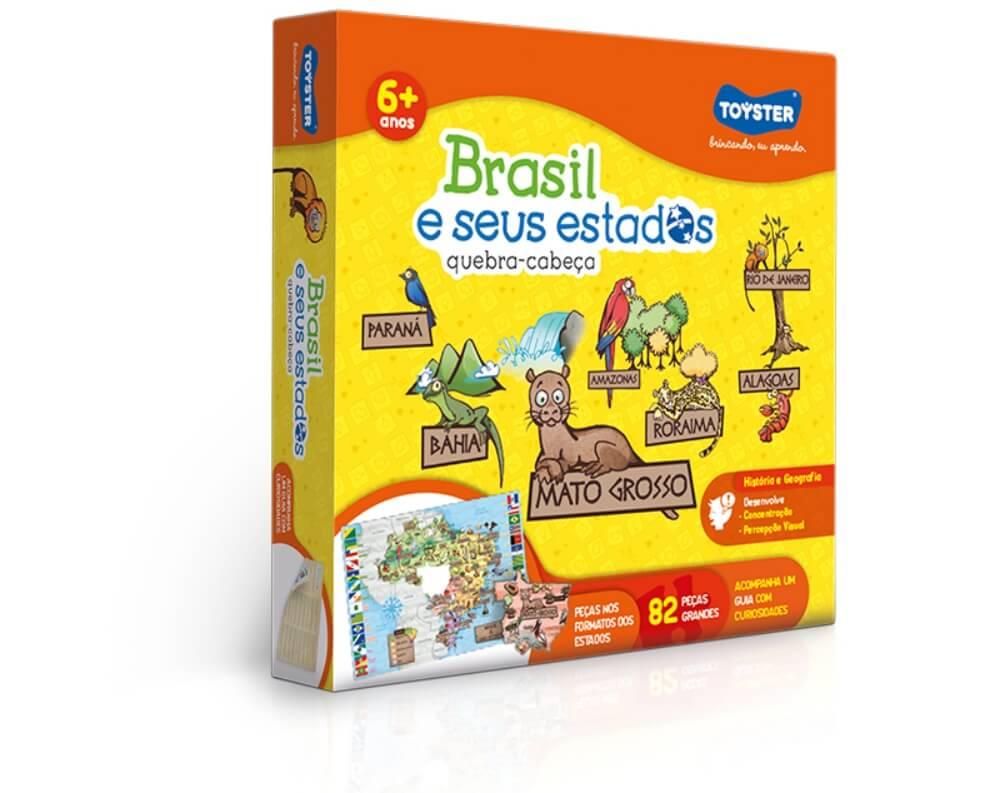 Quebra-Cabeça 82 Peças - Brasil e Seus Estados 2771