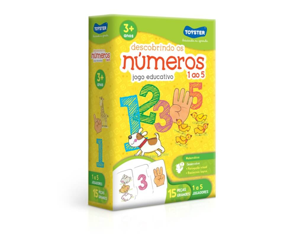 Jogo Educativo Descobrindo os Números 1 ao 5 2036