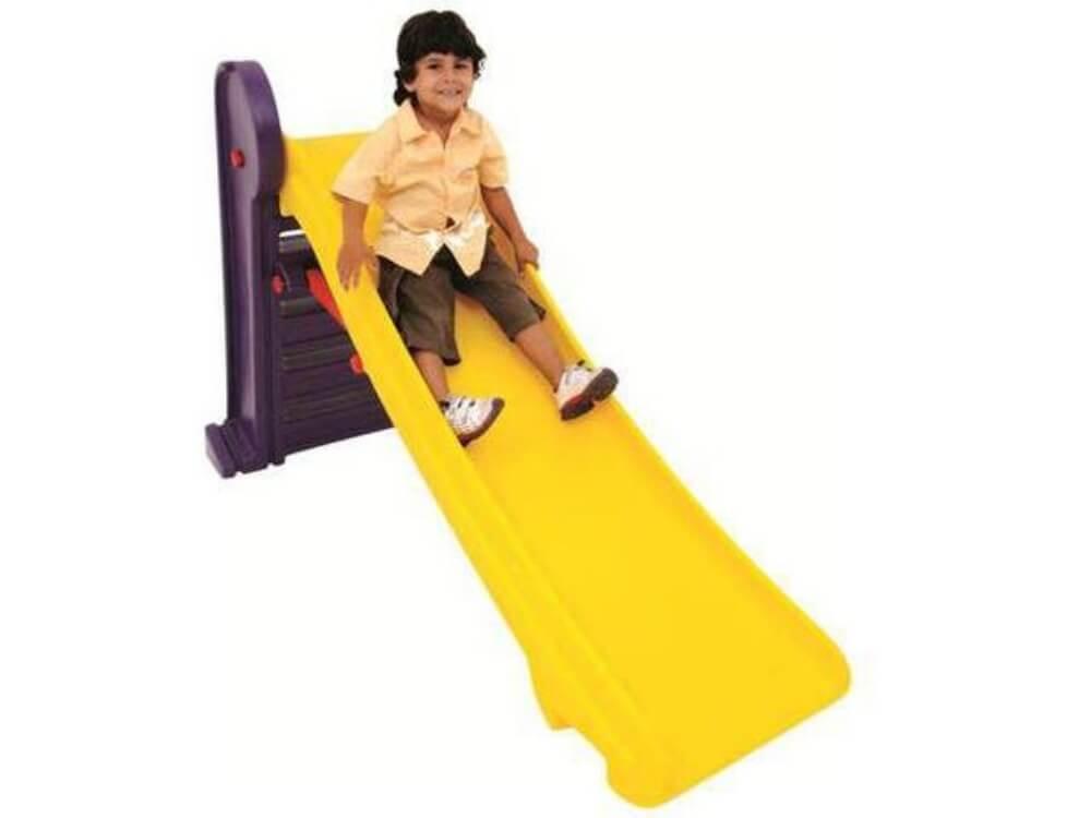 Escorregador Infantil Master Roxo e Amarelo