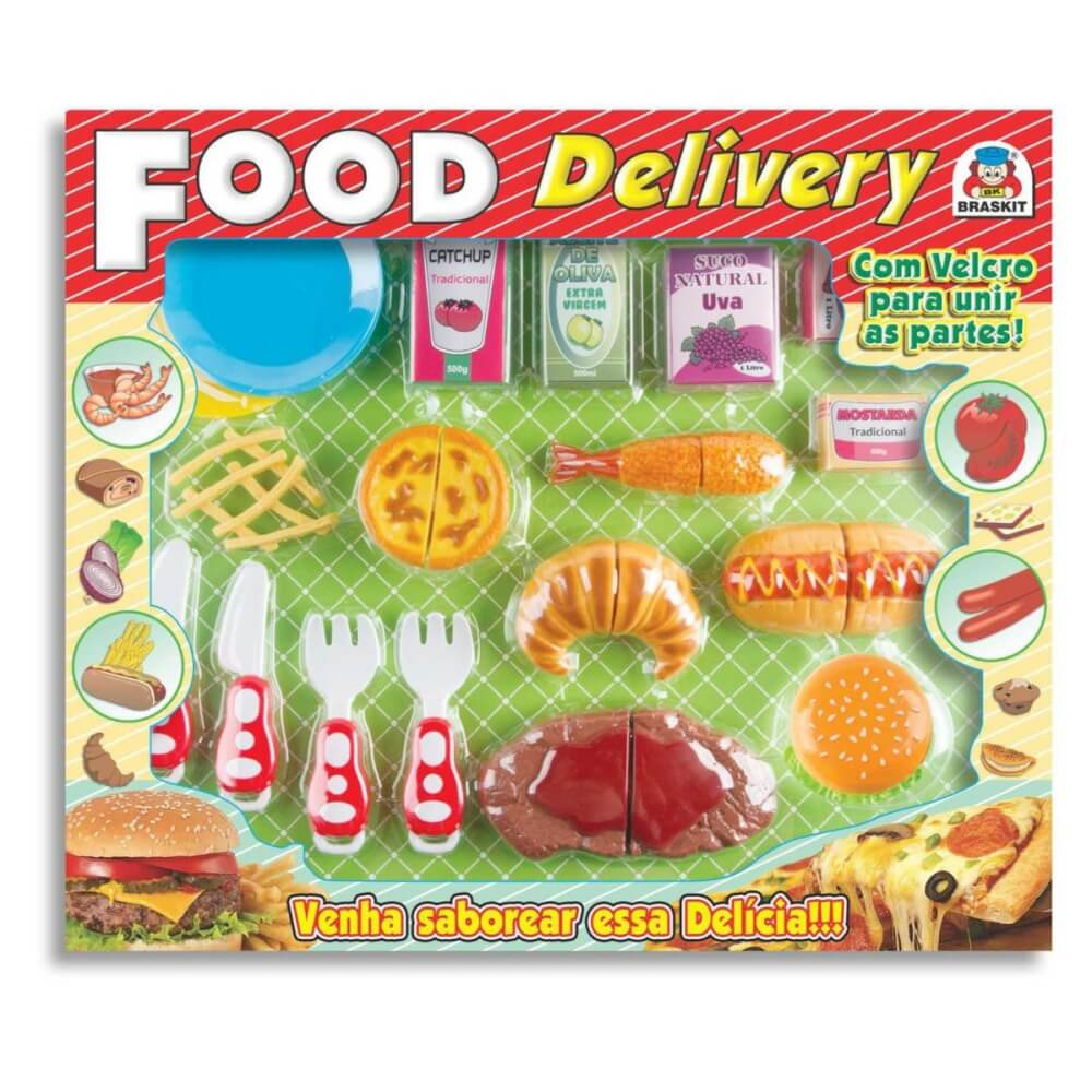 Conjunto Braskit Food Delivery Lanches 8603