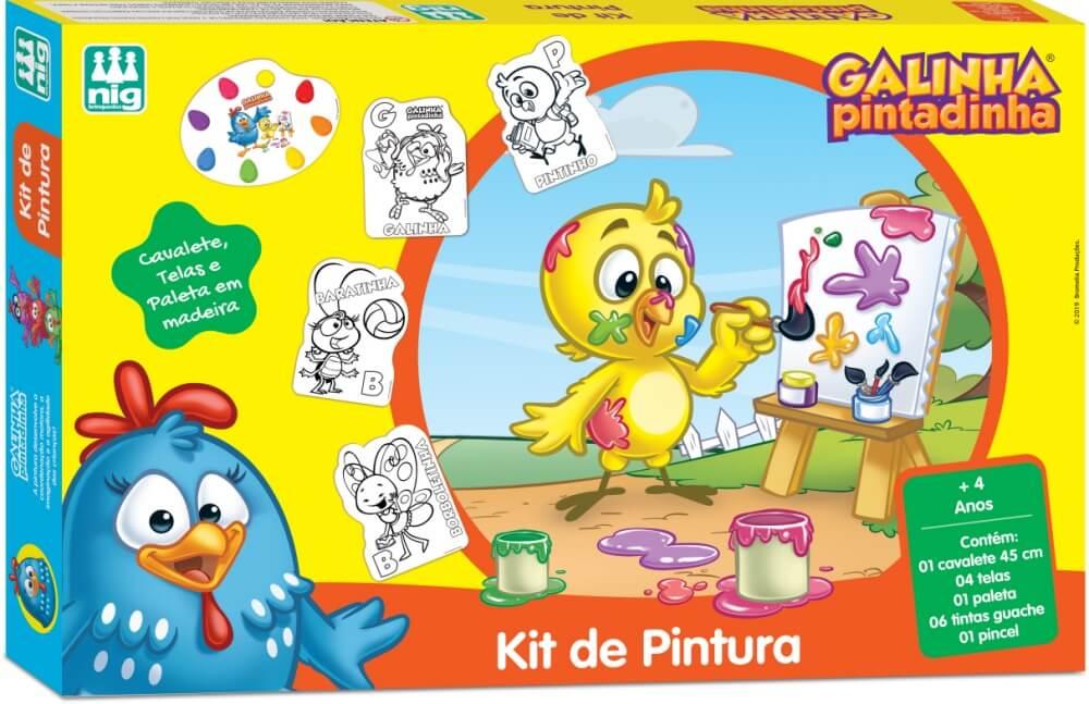 KIT DE PINTURA GALINHA PINTADINHA 732
