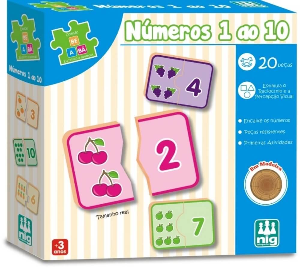 NUMEROS DE 1 A 10 - 10PLACAS 0415