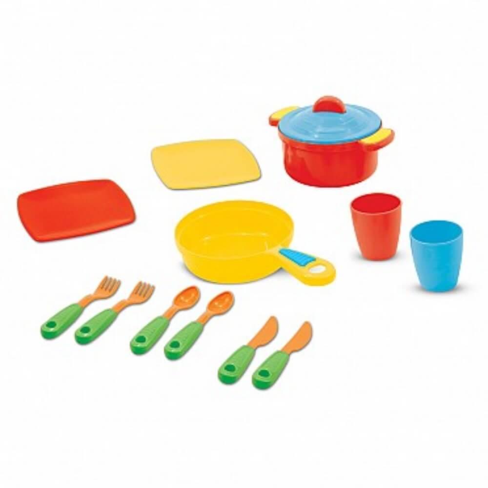 Brinquedo Kit Panela E Talheres Colorido 1027