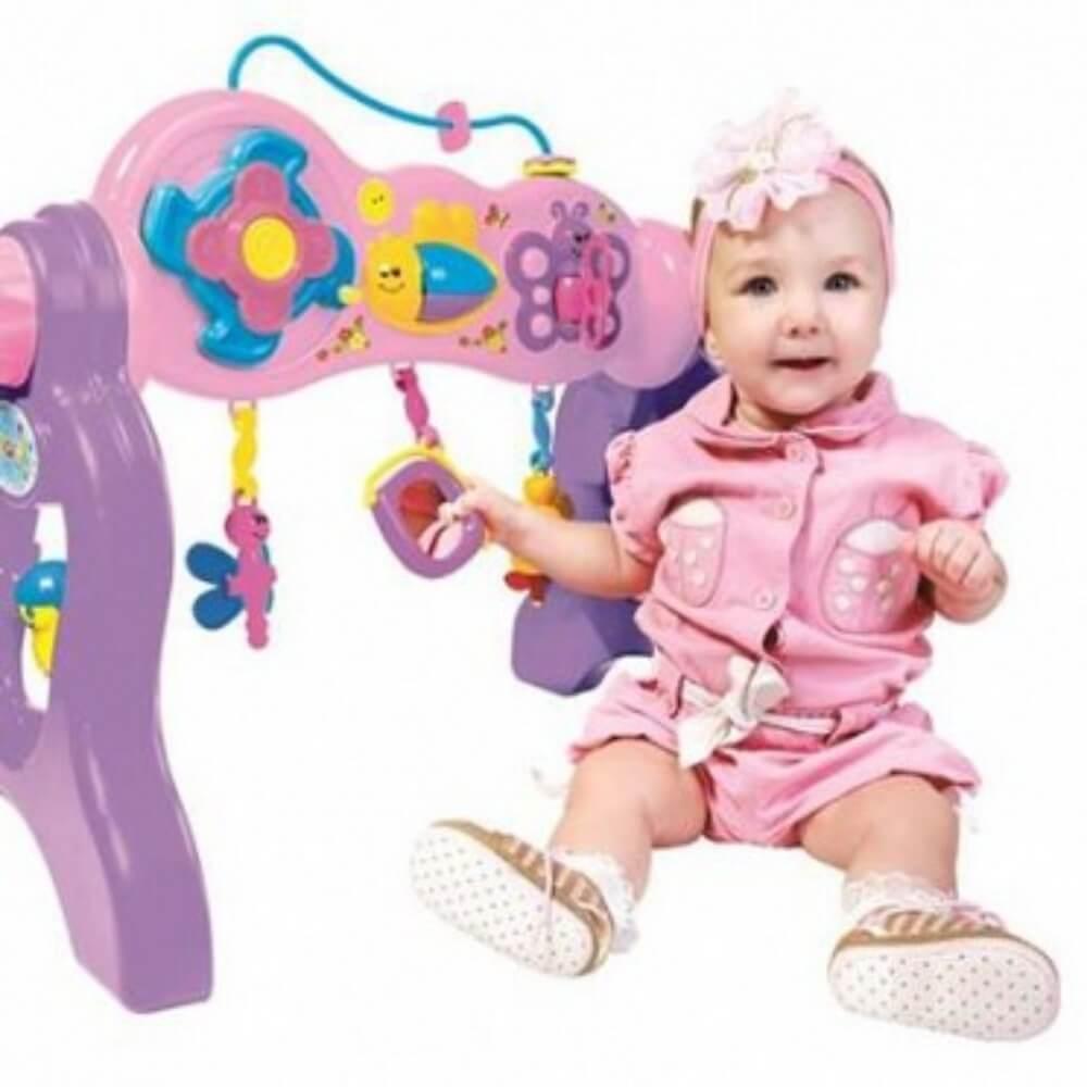 Centro de Atividades Play Gym Rosa Com Som 3041