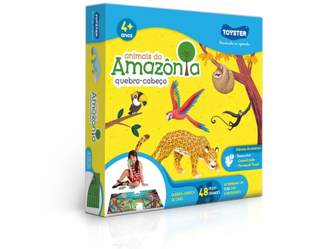 Quebra-Cabeça Grandão 48 Peças - Animais da Amazônia 2784
