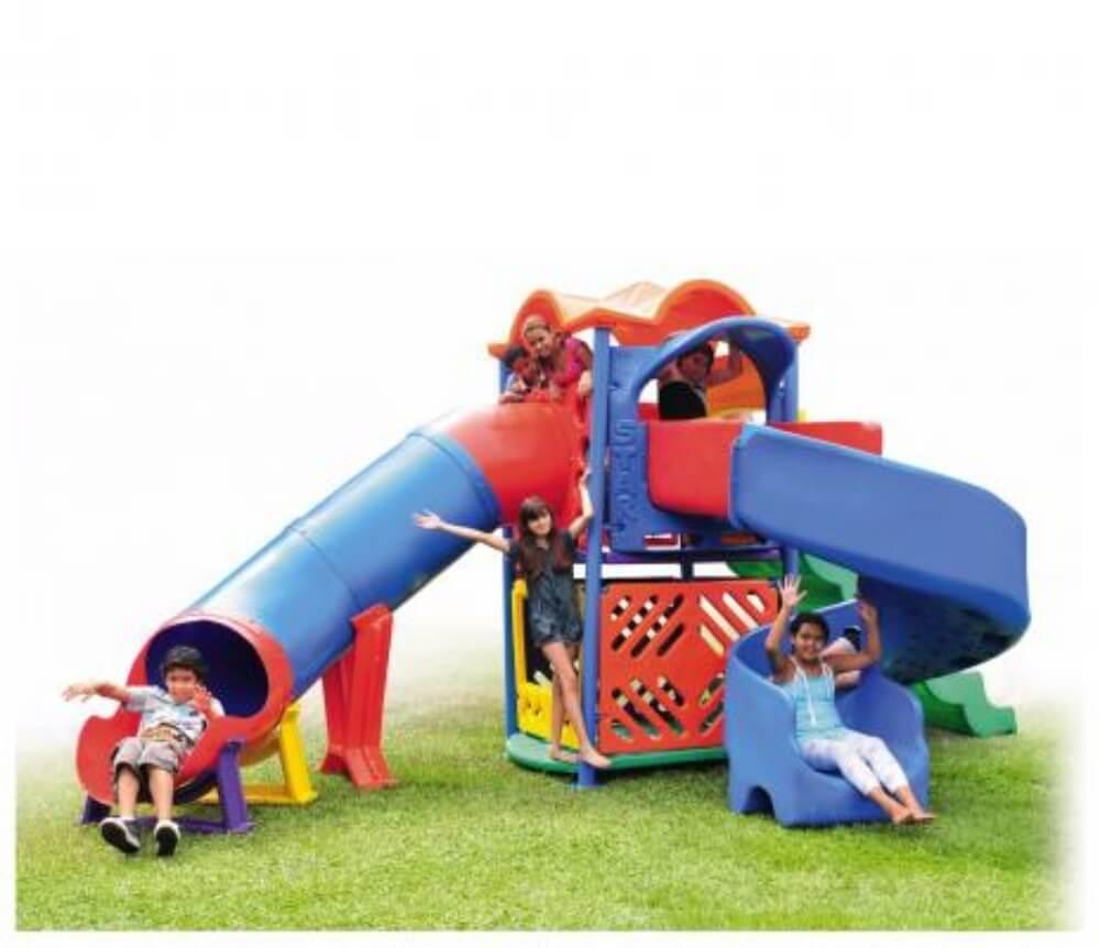 Playground Star Play III Com Escorregador Tunel 50319
