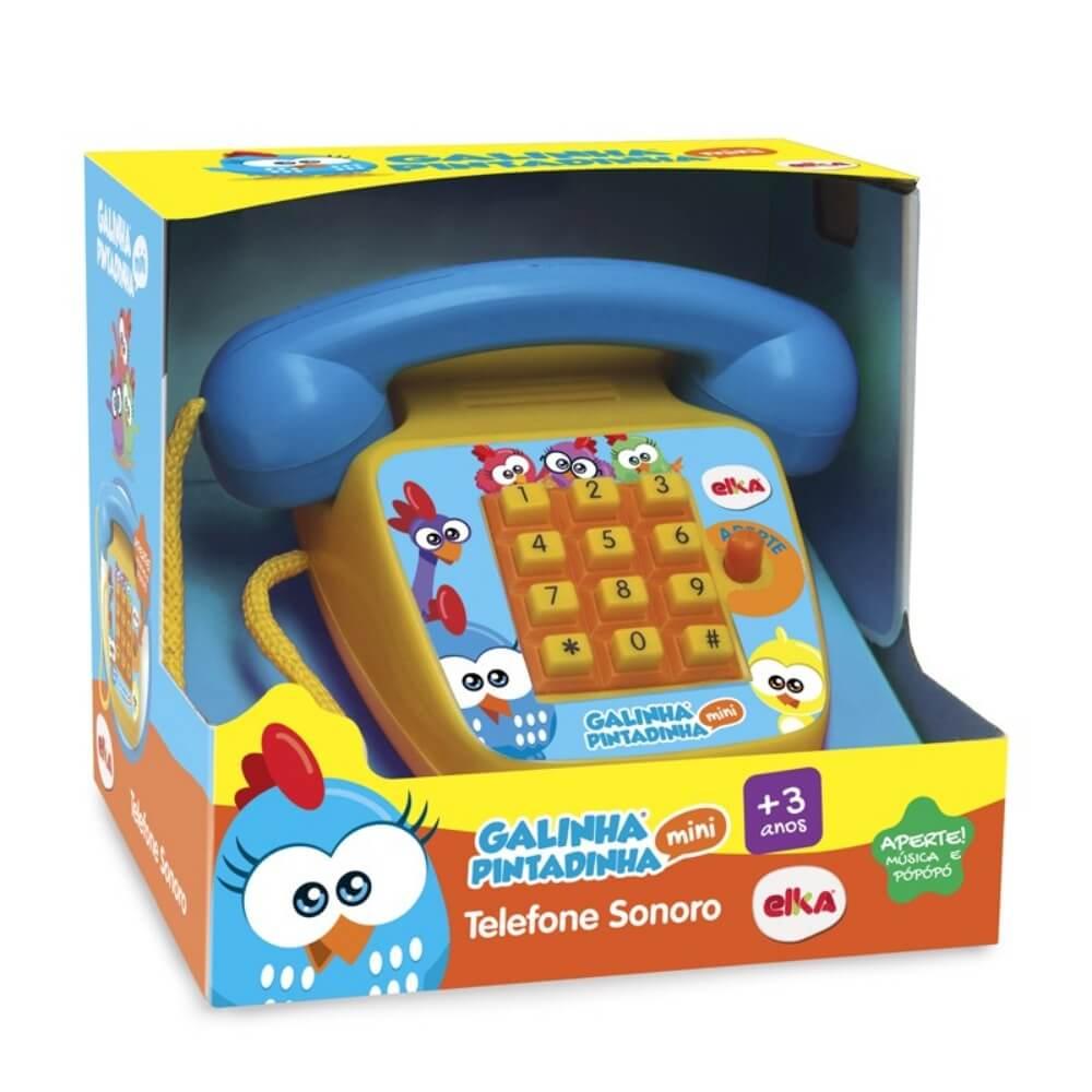 TELEFONE SONORO GALINHA PINTADINHA MINI 1087