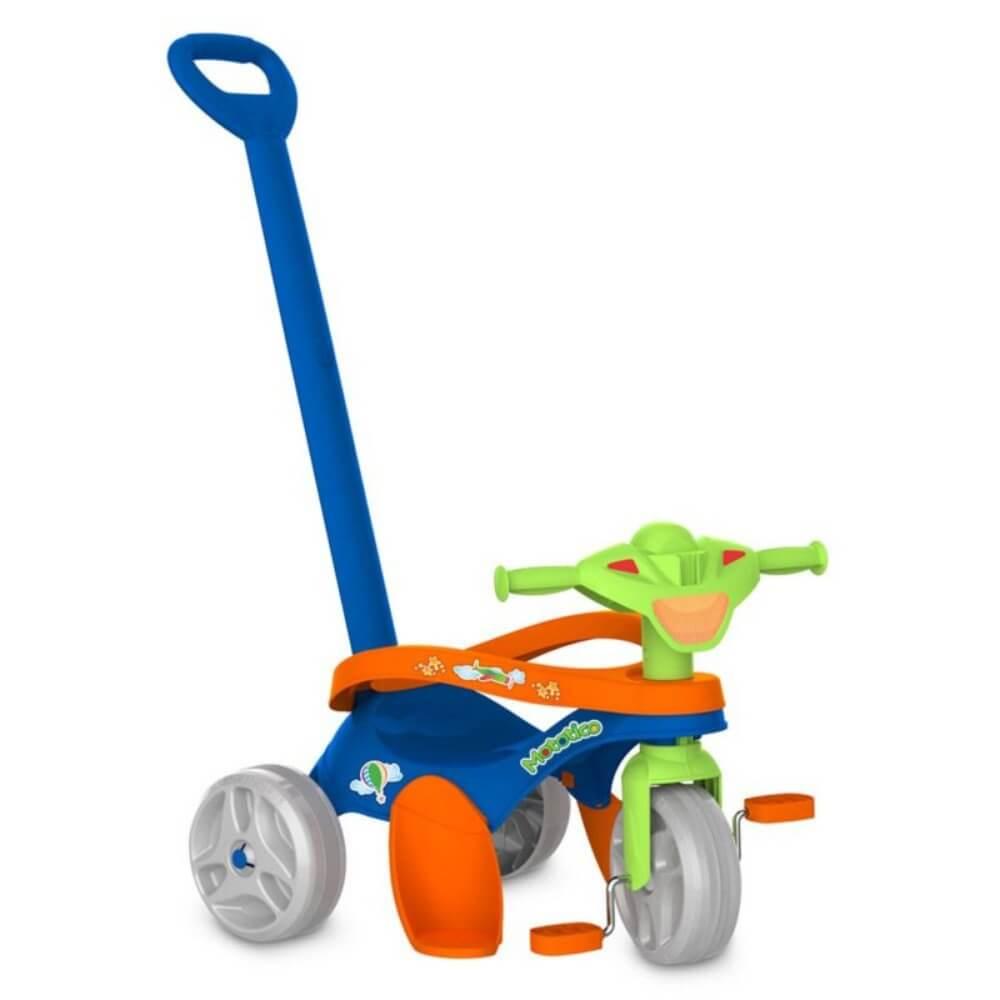 Triciclo Infantil Mototico Passeio e Pedal Azul 692