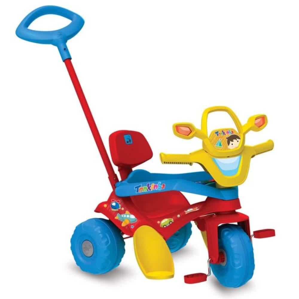 Triciclo Infantil Tonkinha Passeio e Pedal Vermelho 853