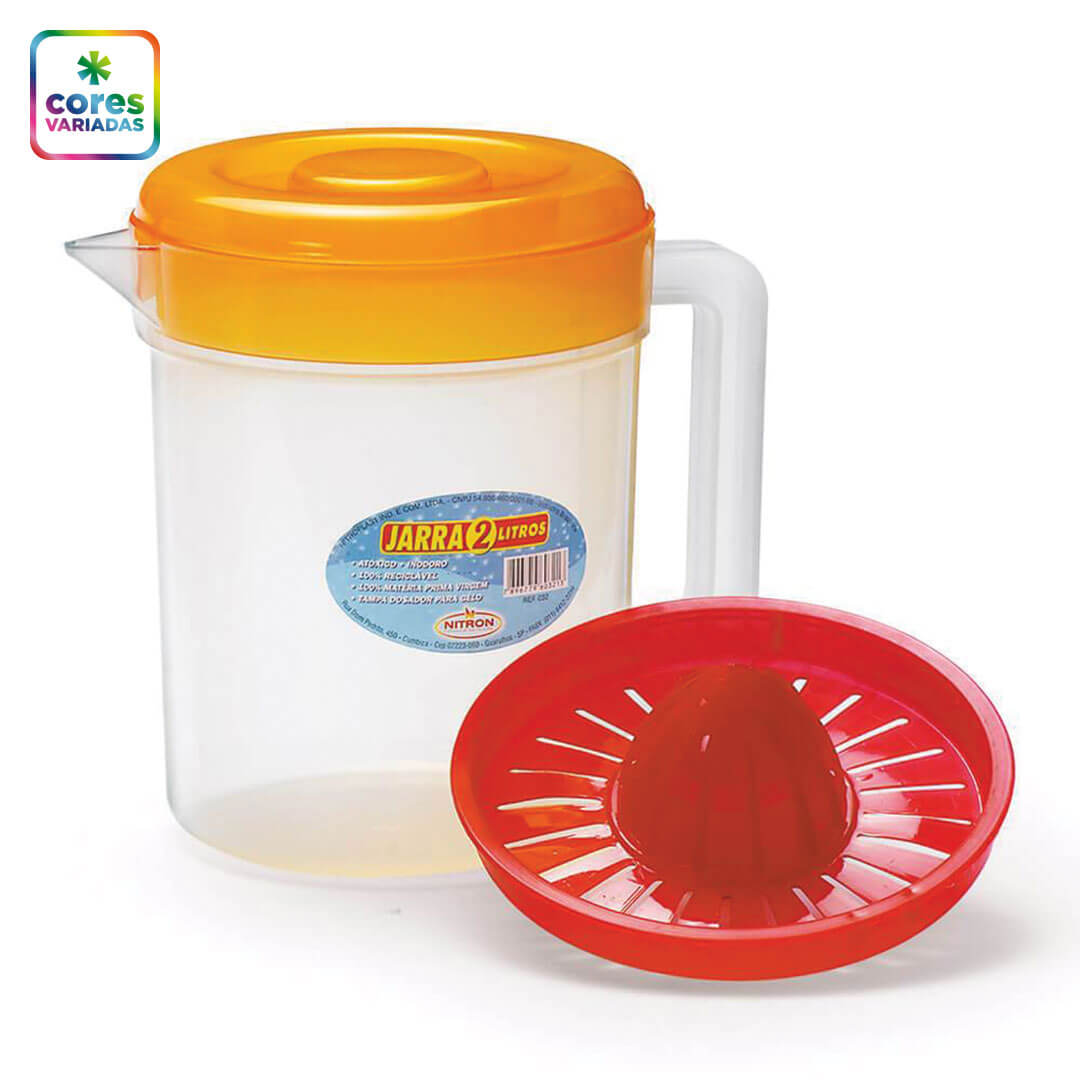 Kit jarra com espremedor e tampa 2 litros