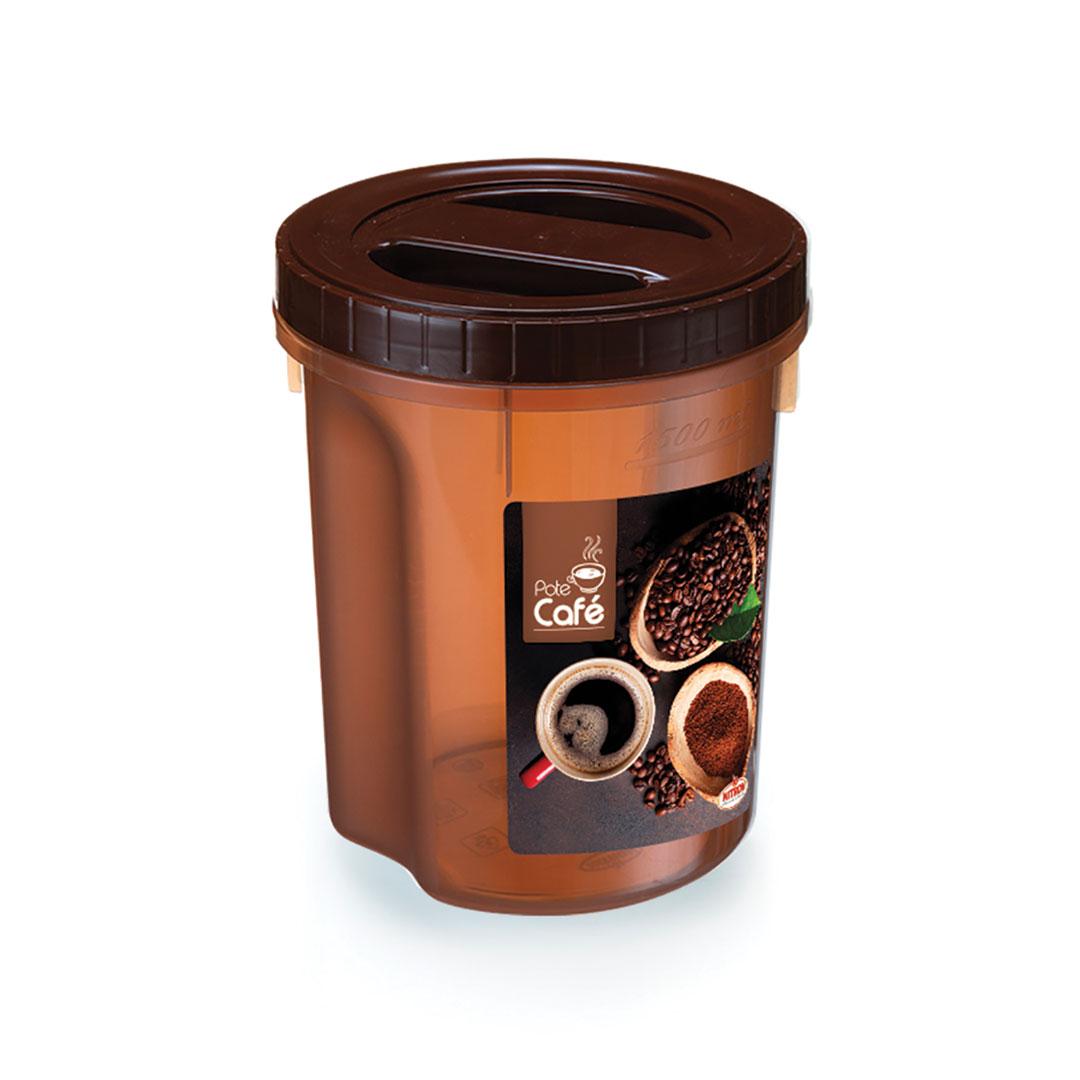 Pote café acoplado com rosca 2 litros