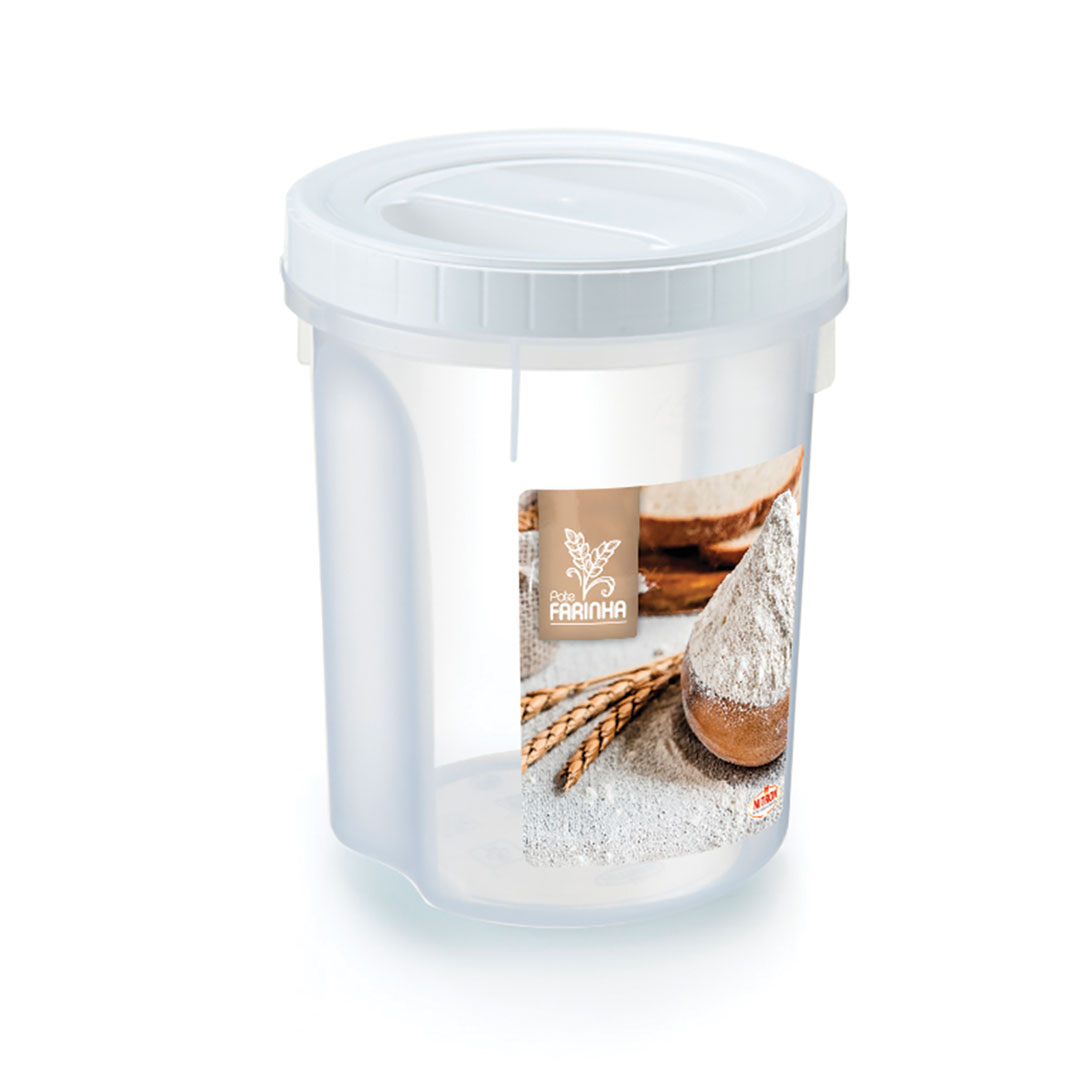 Pote feijão acoplado com rosca 2 litros