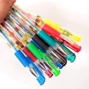 01 Caneta Gel Glitter Pen Coloridas Importadas Cores lindas e Vivas