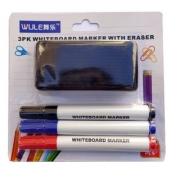 Kit Para Quadro Branco 3 canetas + 1 apagador