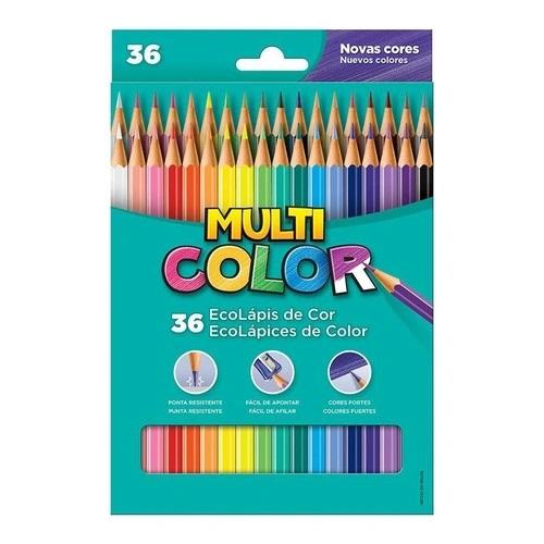 Lapis de cor sextavado Multicolor Super Eco 36 cores Faber-Castell