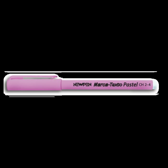 Marca Texto de Bolso NewPen Tons Pastéis  Rosa Pastel