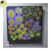Quadro ReefPaint com tinta Neon 1119 Jardim de Zoanthus 3