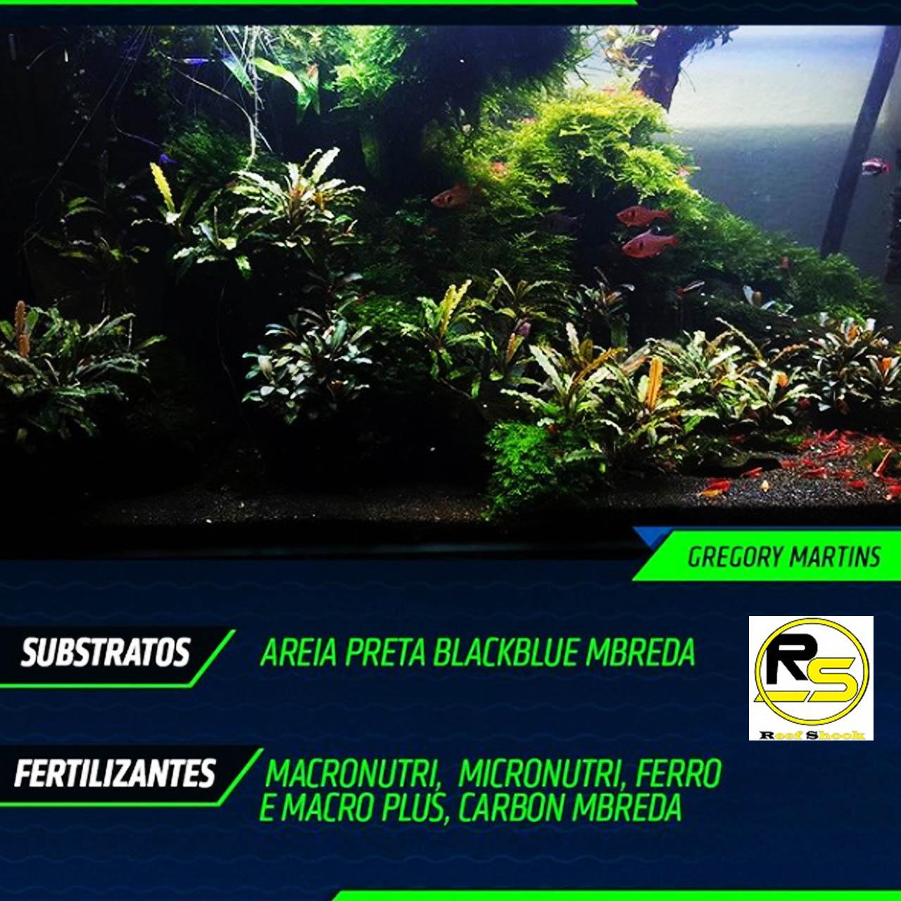 Areia Preta Mbreda BlackBlue Pote 6kg para Aquarios