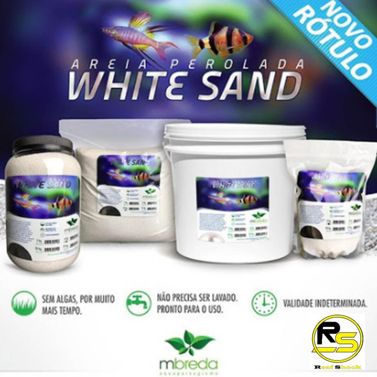 Areia White Sand Mbreda Pote 6Kg