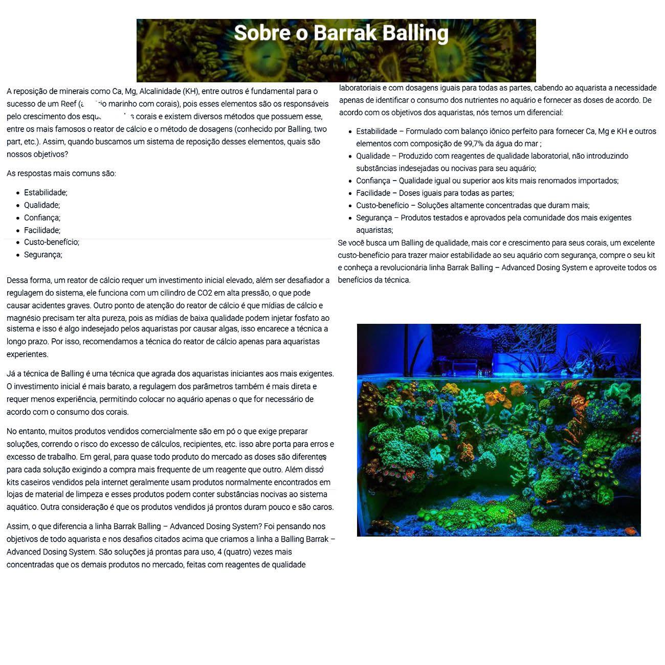 Balling Barrak 100ml Nano Pico Reef Melhor custo Benefício