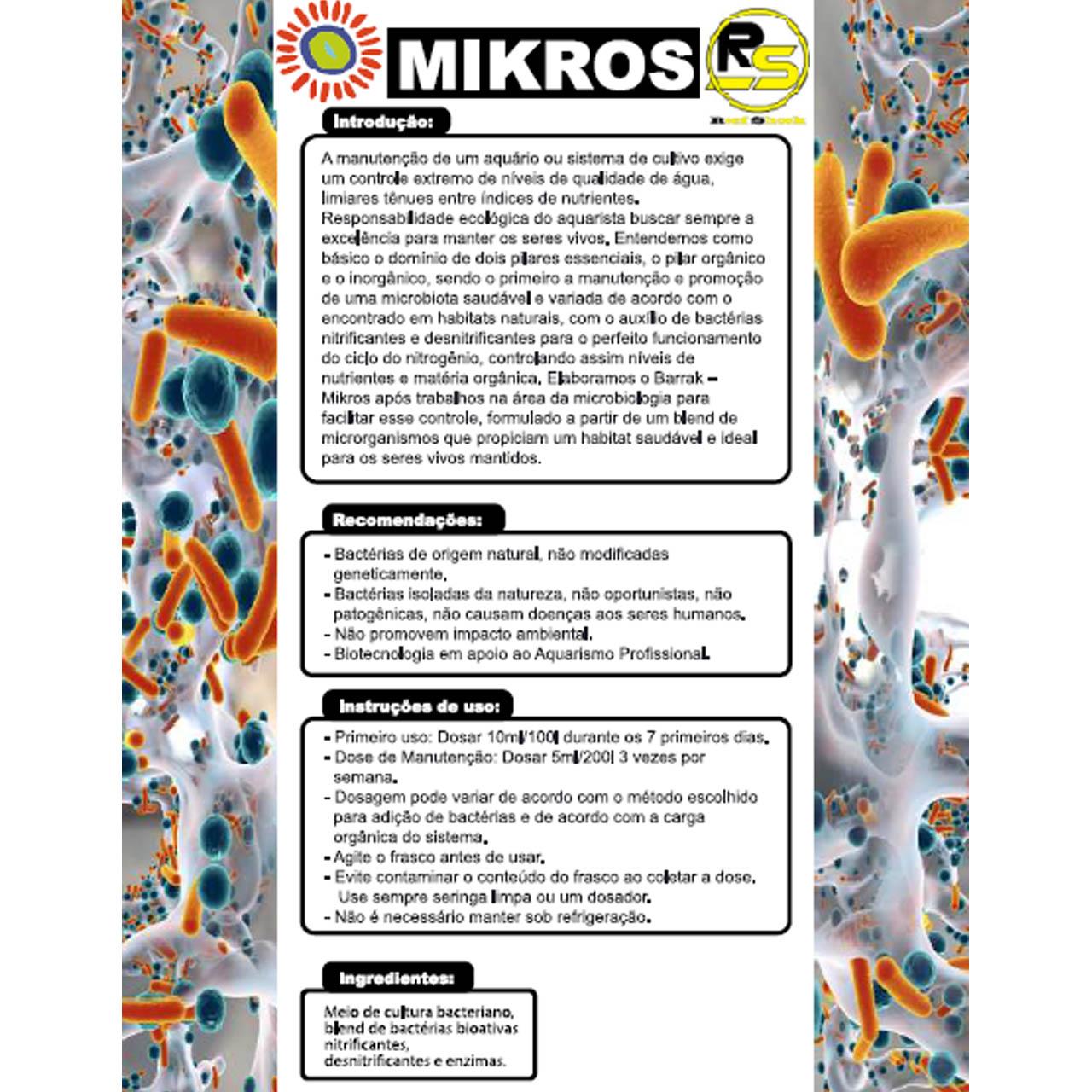 Barrak Mikros Nano 100ml Blend de Bactérias Nitrificantes e Desnitrificantes