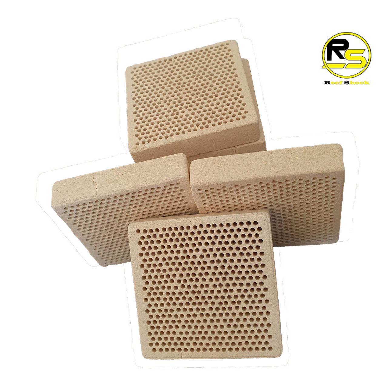 Base para Corais em Ceramica com Furos 5,4 x 5,4 x 1,2 cm kit 10 unidades