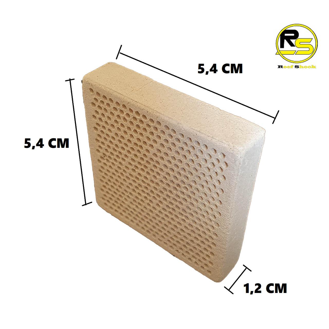 Base para Coral em Ceramica 3,6 x 3,6 x 1 cm kit 100 unidades
