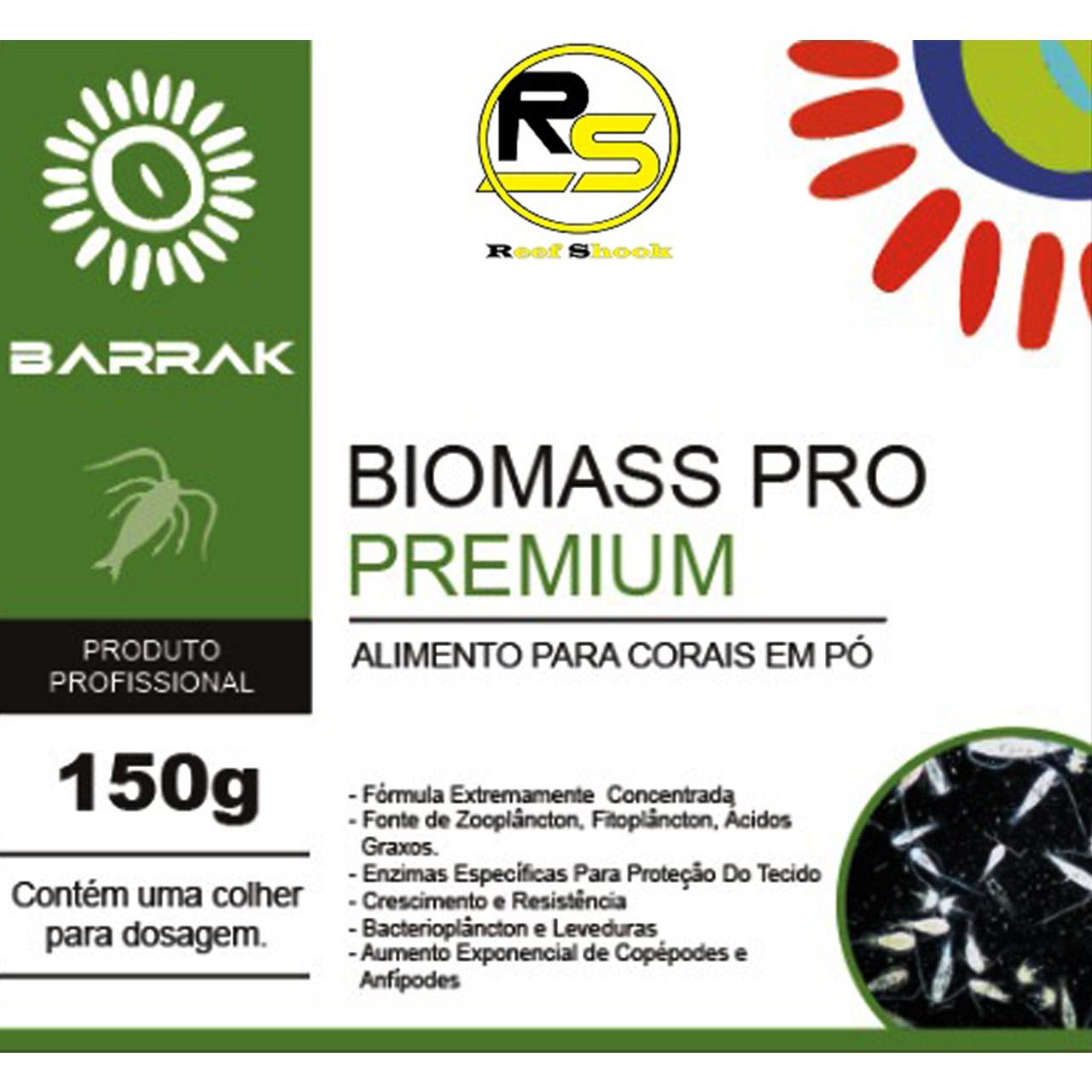 Biomass Pro Premium Barrak Alimento Para Corais em Po 150g