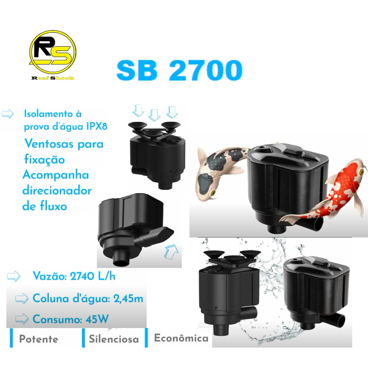 Bomba Submersa Sarlo Better Sb 2700 2740 L/h 110v ou 220v