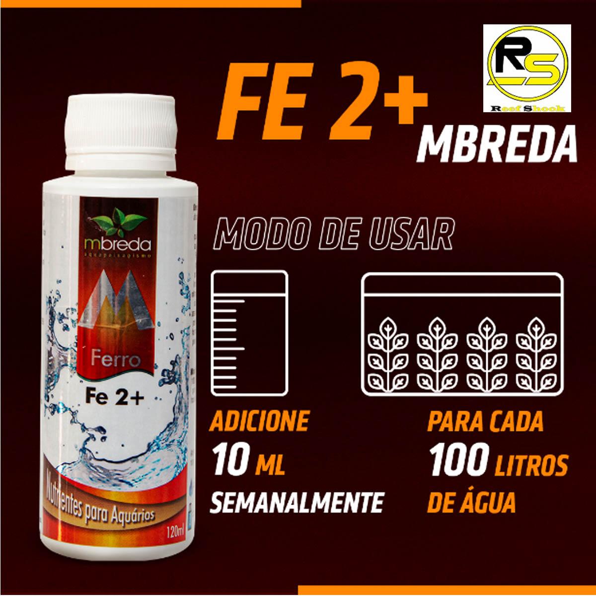 Fertilizante Ferro Fe2+ Mbreda 120ml para Aquario Plantado