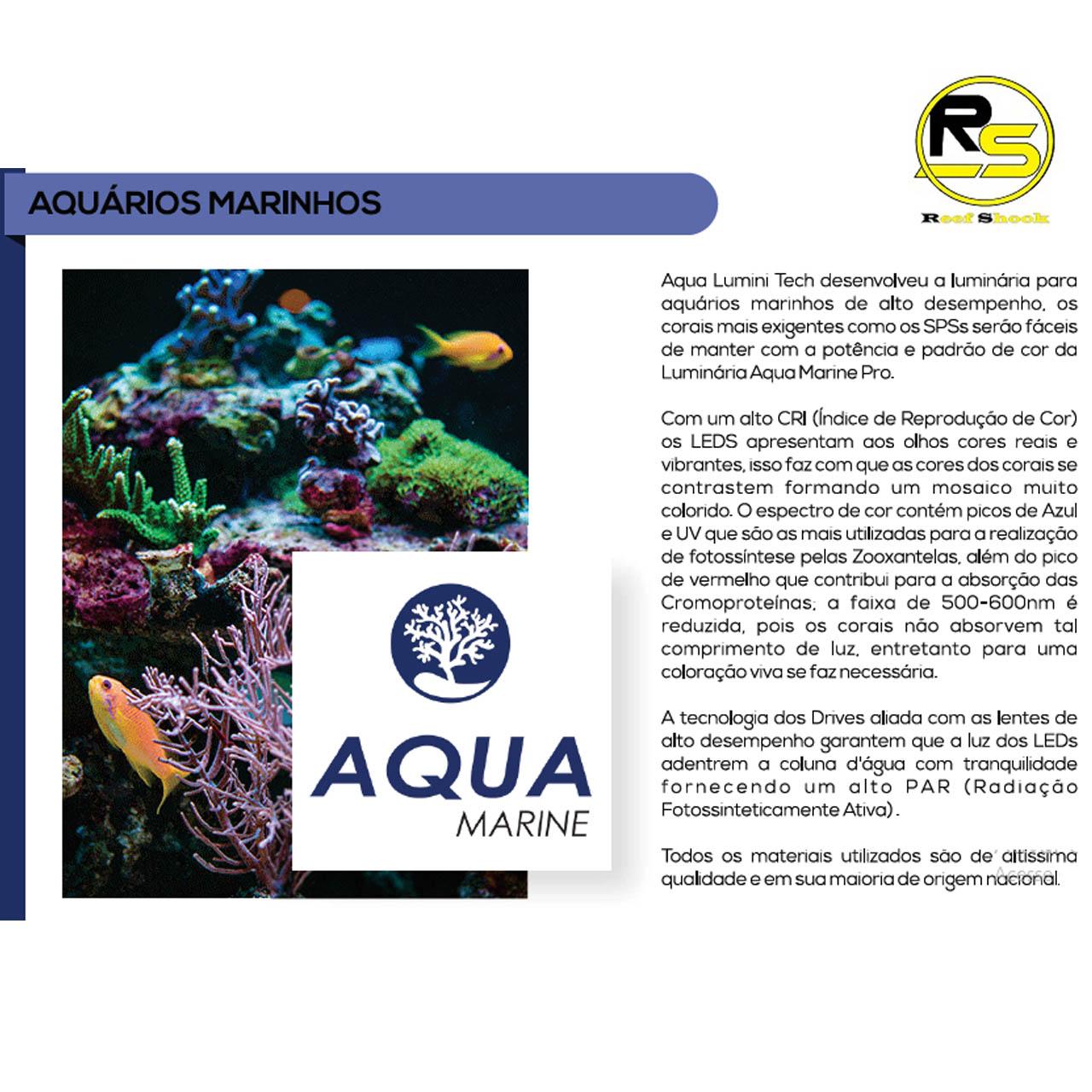 Luminaria Aquario Marinho 80cm Wifi 216w Led Cree Aqua Lumini Top Reef Coral