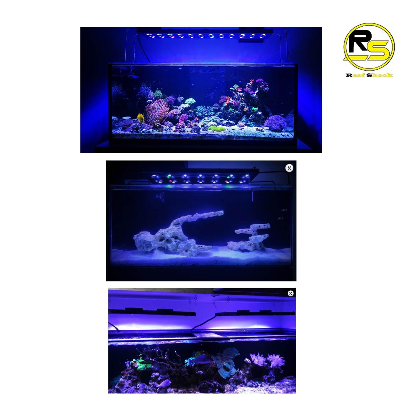 Luminaria Aquario Marinho 40cm Wifi 108w Led Cree Aqua Lumini Top Reef Coral