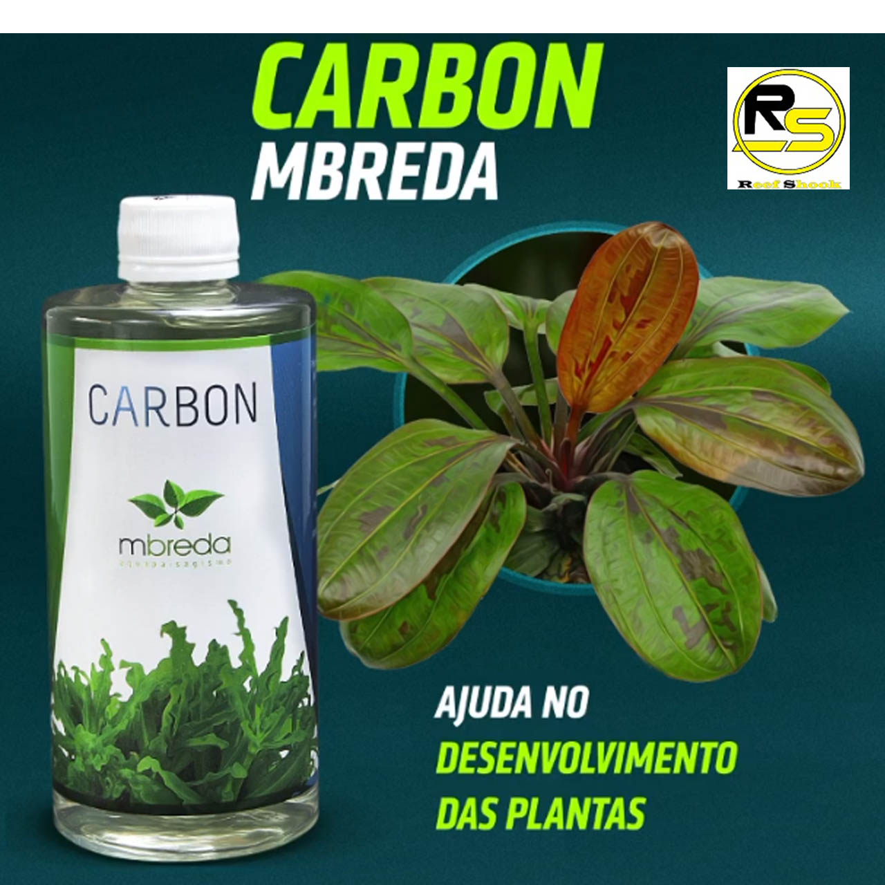Mbreda Carbon 500ml CO2 Liquido e Nutrientes para Aquario Plantado