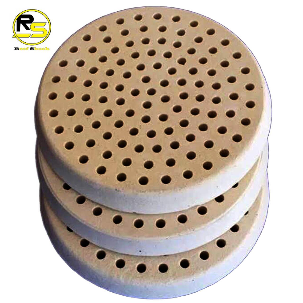Nanoblock Base para Corais Ceramica com Furos 9x1cm kit 10 unidades