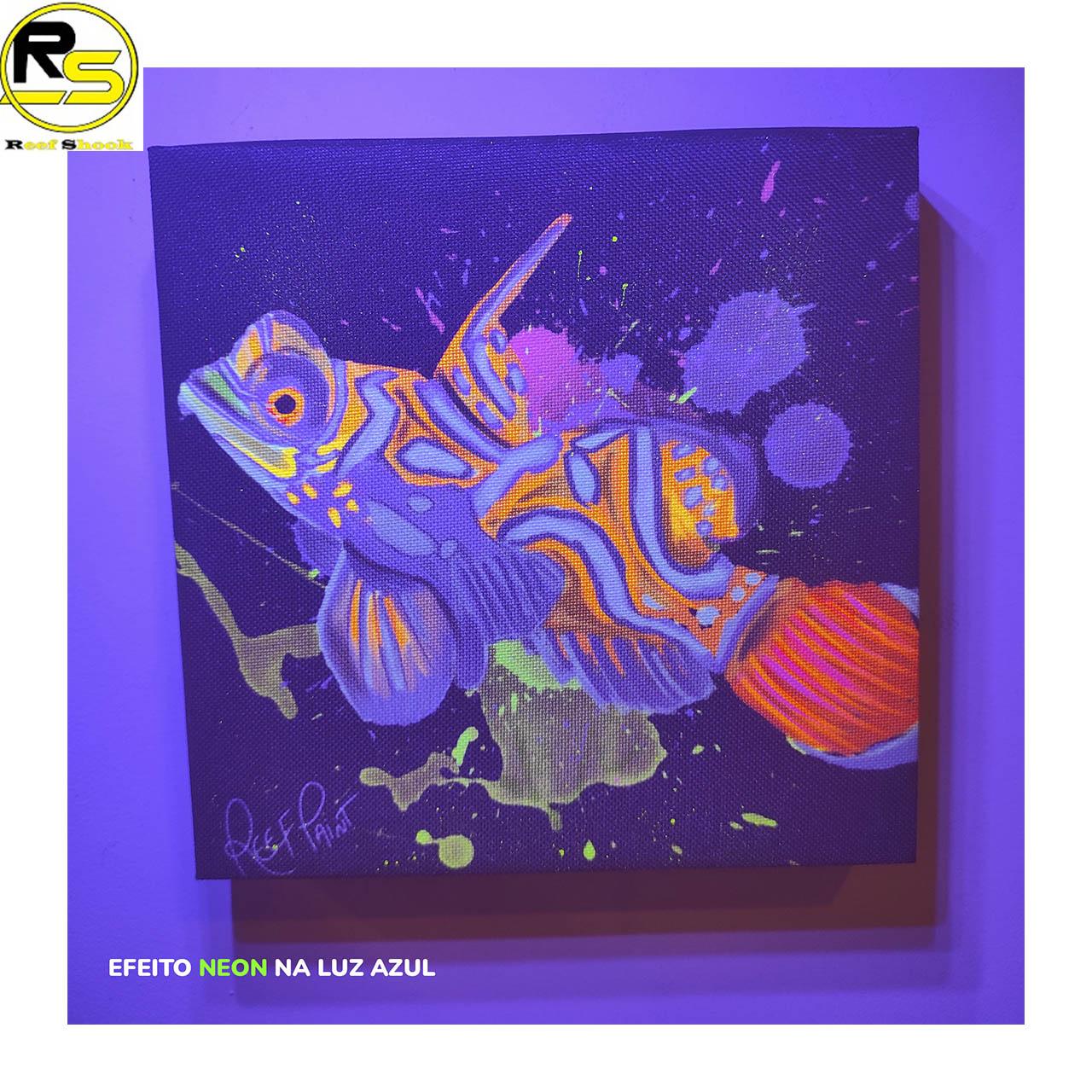 Quadro ReefPaint com tinta Neon 1104 Mandarim Fish