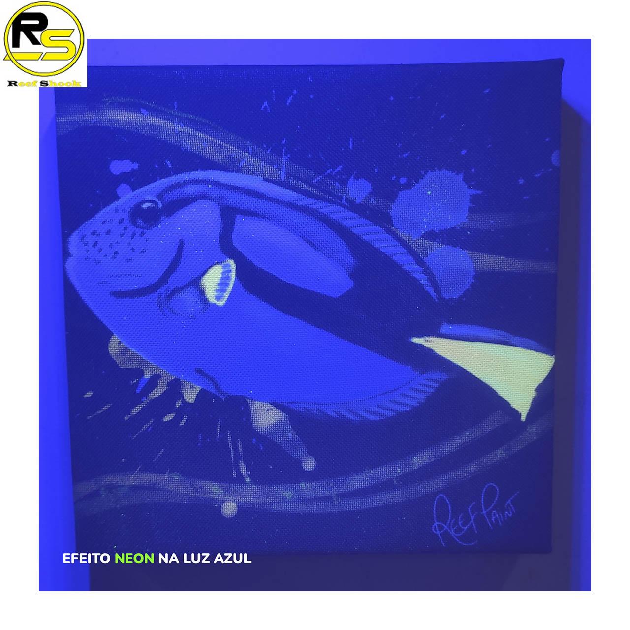 Quadro ReefPaint com tinta Neon 1105 Hepatus