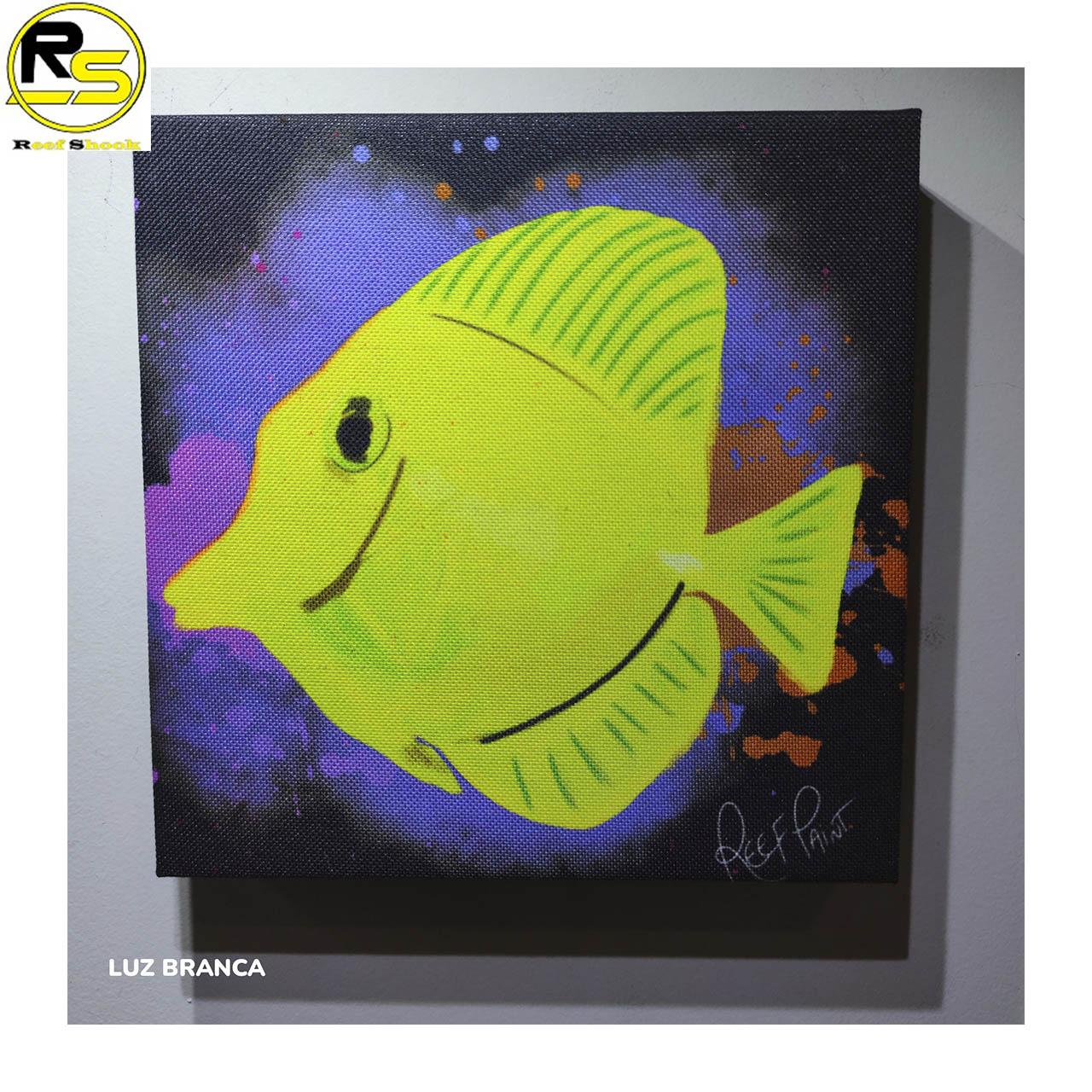 Quadro ReefPaint com tinta Neon 1109 Yellow Tang