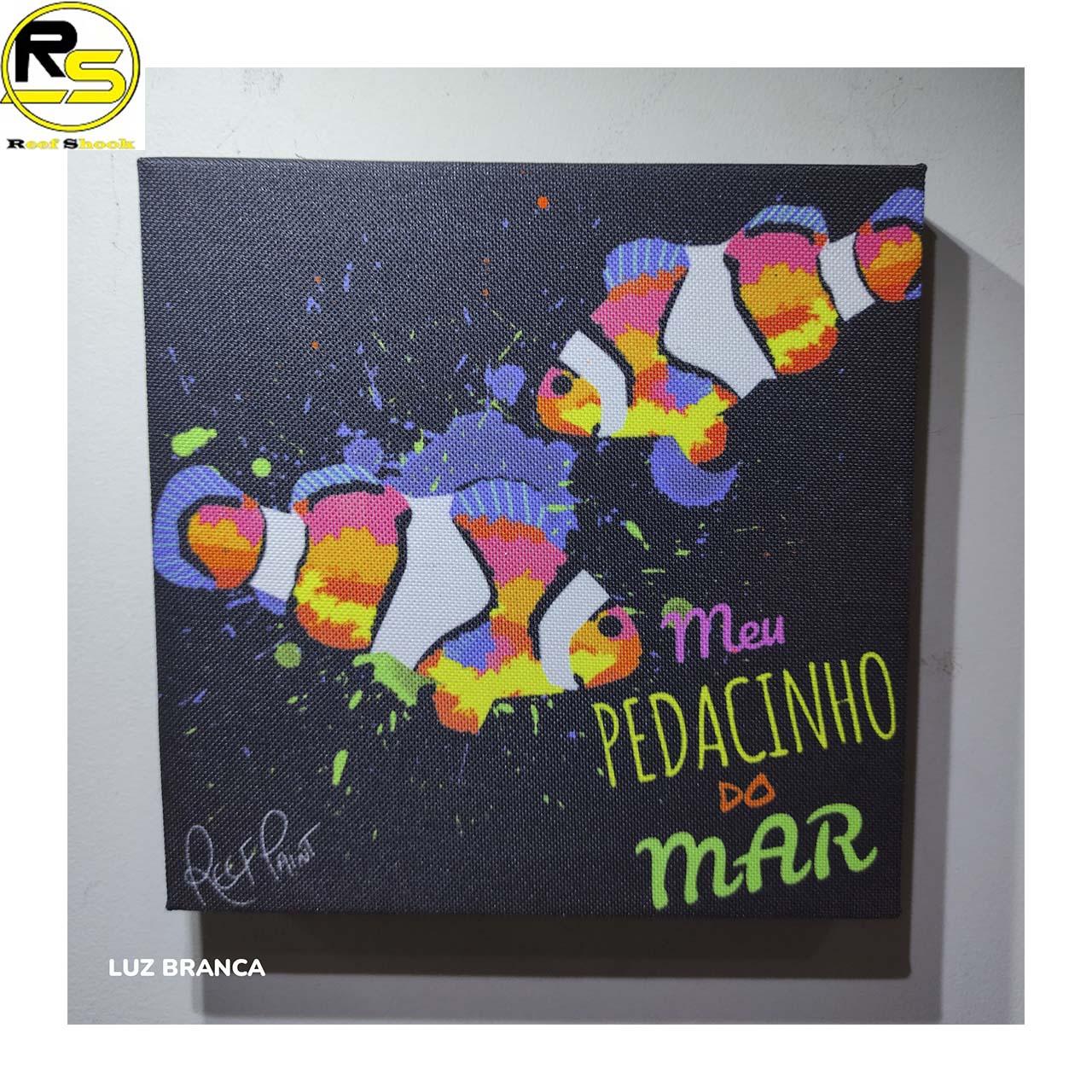 Quadro ReefPaint com tinta Neon 1114 Artístico Ocellaris com frase