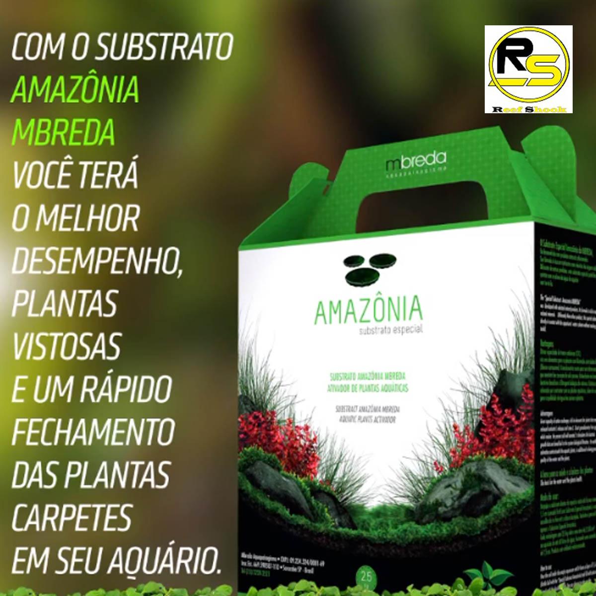 Substrato Amazonia Mbreda 2,5kg para Aquários Plantados