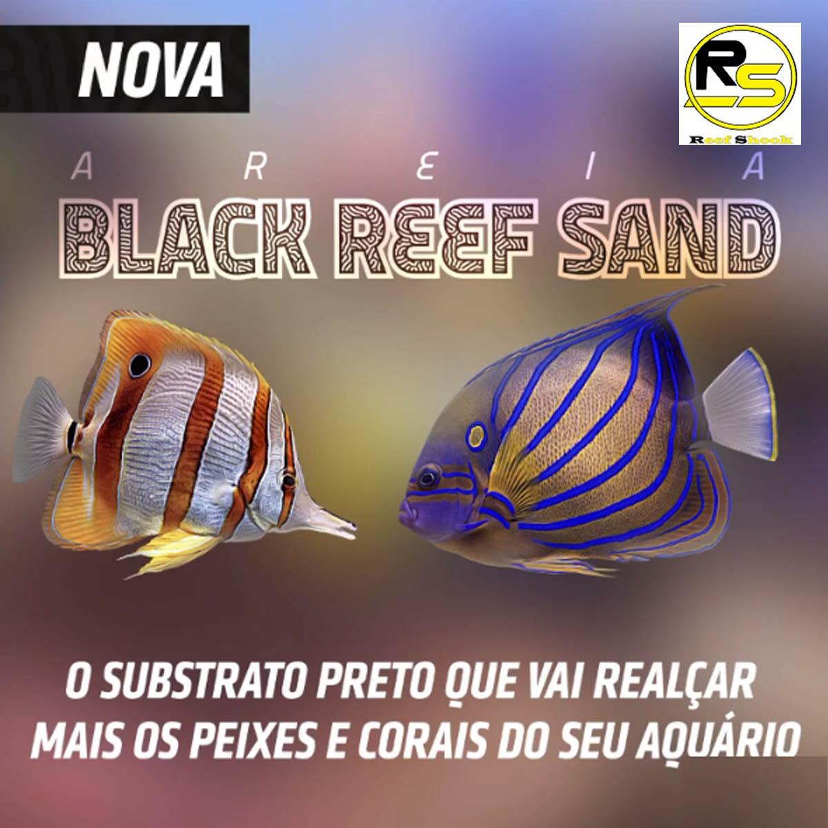 Substrato Mbreda Black Reef Sand Marinho Pote 6kg