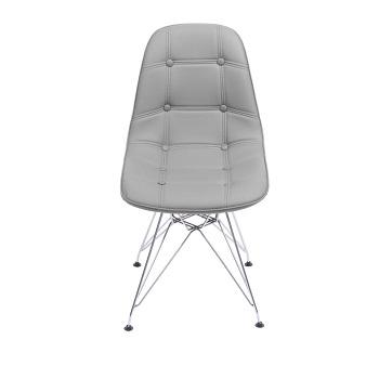 Cadeira eames Botone cromada