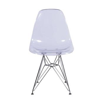 Cadeira Eames incolor base cromada
