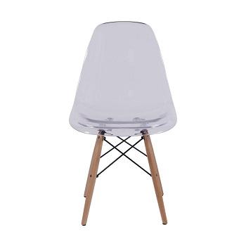 Cadeira eames incolor policarbonato madeira